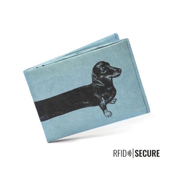 Umweltbewußte Geschenke - e-typisch -Portemonnaie RFID_Dackel-Vorne