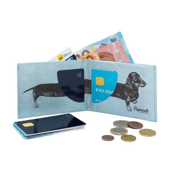 Umweltbewußte Geschenke - e-typisch -Portemonnaie RFID_Dackel-offen