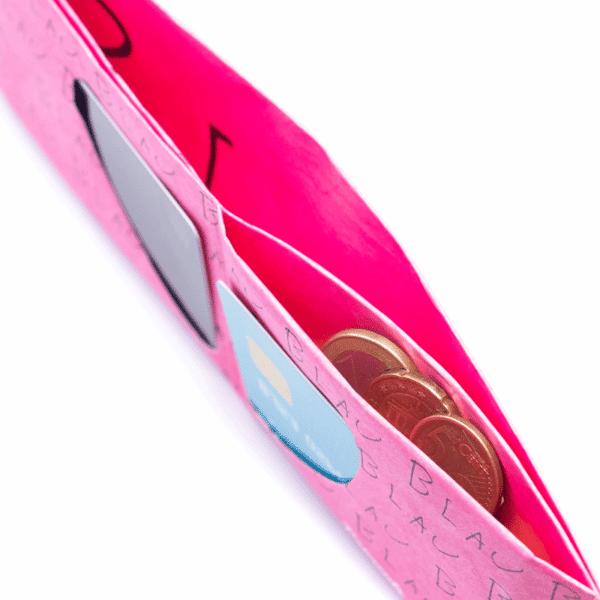 Umweltfreundliche Geschenke - e-typisch -Portemonnaie - RFID_Blau_Innenansicht