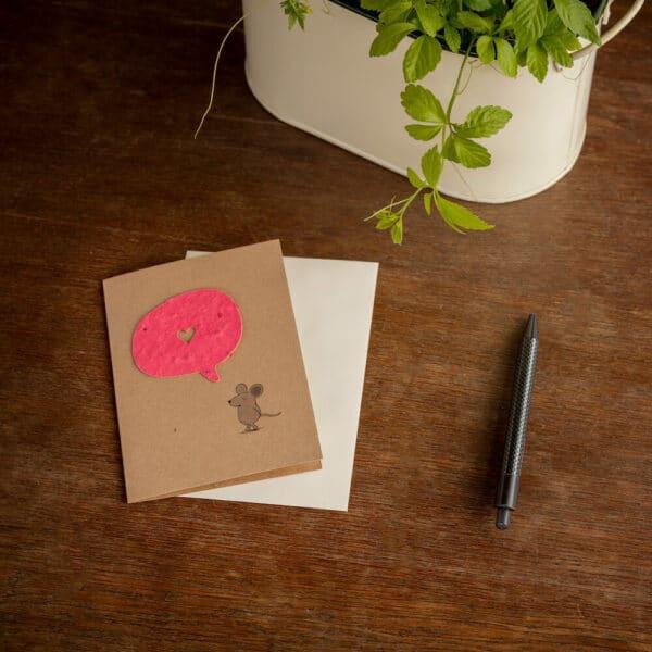 Umweltfreundliche Geschenke - e-typisch - Grußkarten Maus