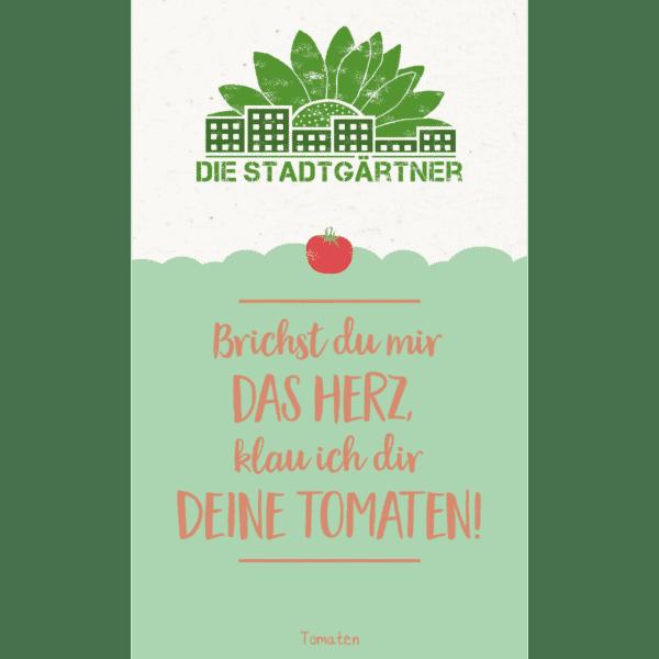 Nachhaltige Geschenke - e-typisch - Saatgrüße tomaten