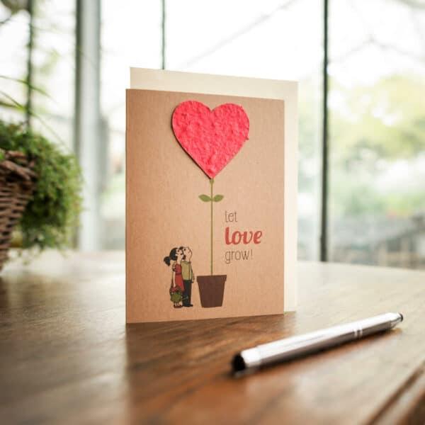 Umweltbewußte Geschenke - e-typisch - Saatkarten Let Love Grow