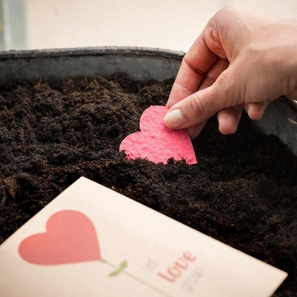 Grußkarte Let Love Grow mit Herz 1