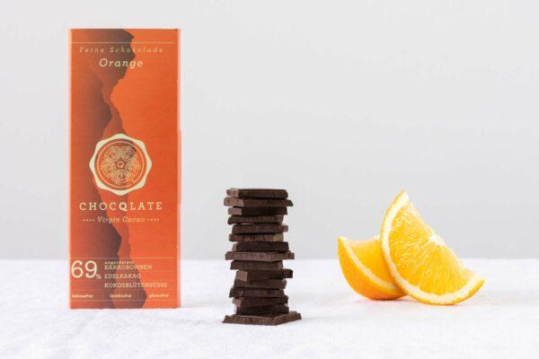 Vegane Schokolade mit Orange - e-typisch