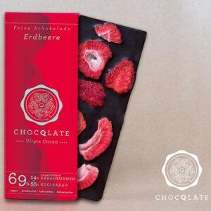 FairTrade Geschenke - e-typisch Vegane Schokolade mit Erdbeeren