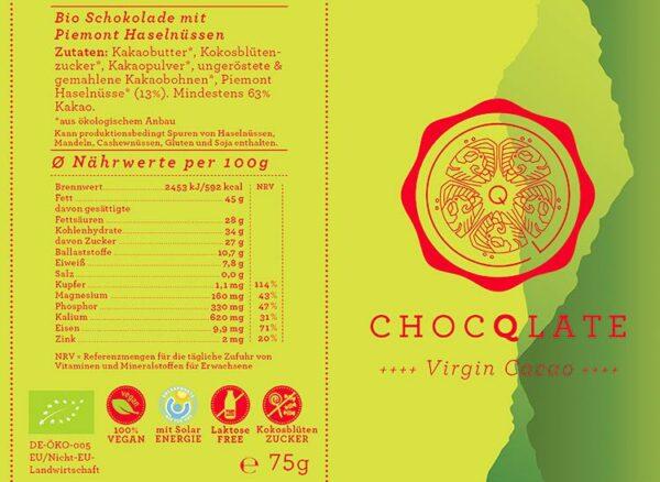 Umweltbewußte Gechenke - e-typisch - Fair Trade Schokolade mit Haselnüssen aus Piemont