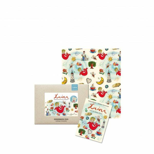 Nachhaltige Geschenke - e-typixch-Biobienenwachstuch für Kinder mit Luina Lieblingsbuch