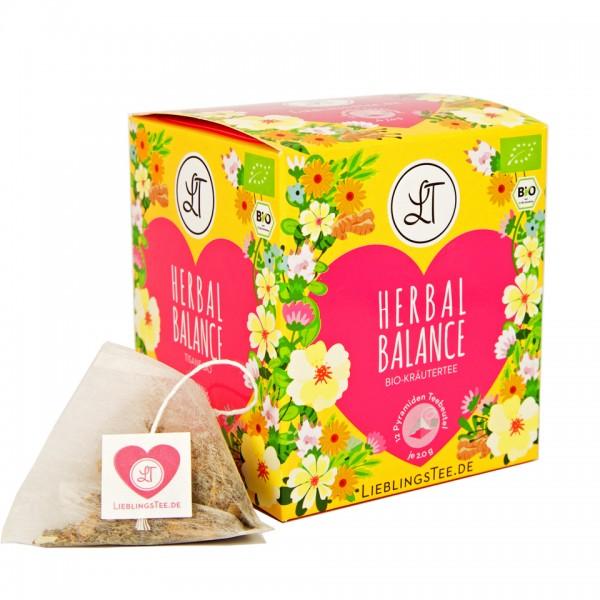 Umweltfreundliche Geschenke-Tee Herbal Balance mit kompostierbarer Verpackung