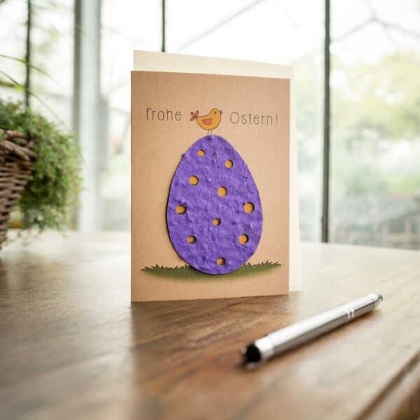 umwelbewußte Geschenke - Oster-Karte -e-typisch