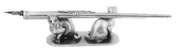 Stiftablage, Federnablage aus Zinn bei e-typisch