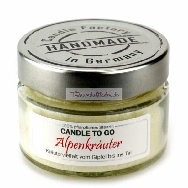 CANDLE TO GO mit Duft Alpenkräuter 1