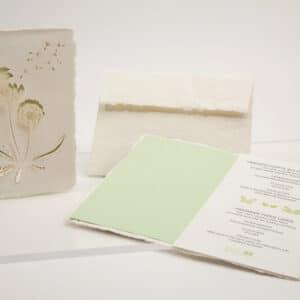 Pusteblume - Klappkarte aus Büttenpapier von e-typisch