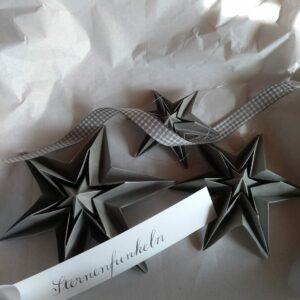 kreative handgemachte Sterne zu Weihnachten - e-typisch