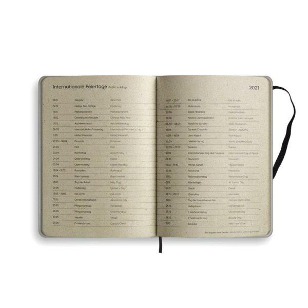 "A5 Kalender Samaya 2021 ""Easy"" (DE/EN) - Graspapier 6"