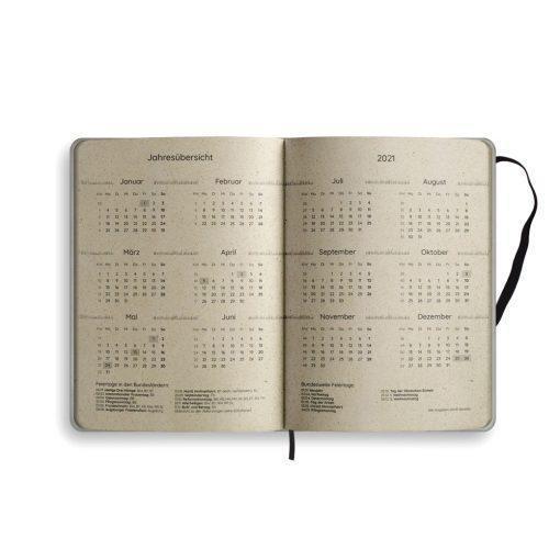 "A5 Kalender Samaya 2021 ""Good vibes only"" - Graspapier 6"