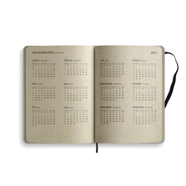"A5 Kalender Samaya 2021 ""Easy"" (DE/EN) - Graspapier 7"