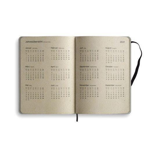 "A5 Kalender Samaya 2021 ""Endangered"" (DE/EN) - Graspapier 6"