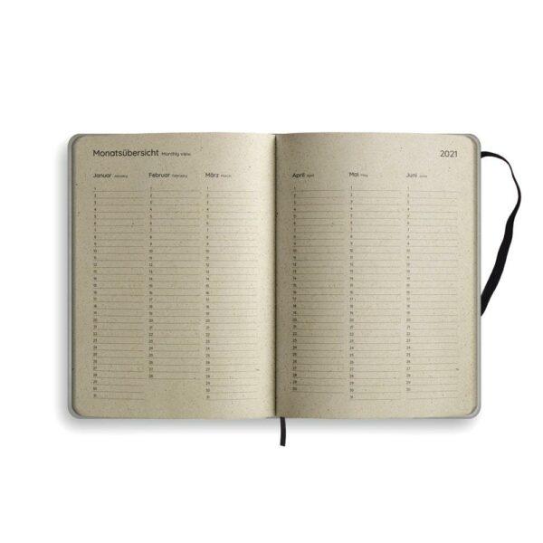 "A5 Kalender Samaya 2021 ""Easy"" (DE/EN) - Graspapier 8"