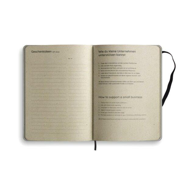 "A5 Kalender Samaya 2021 ""Easy"" (DE/EN) - Graspapier 11"