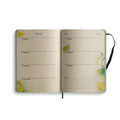 "A5 Kalender Samaya 2021 ""Good vibes only"" - Graspapier 11"