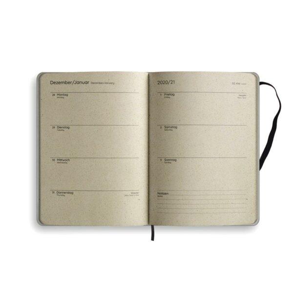 "A5 Kalender Samaya 2021 ""Easy"" (DE/EN) - Graspapier 12"
