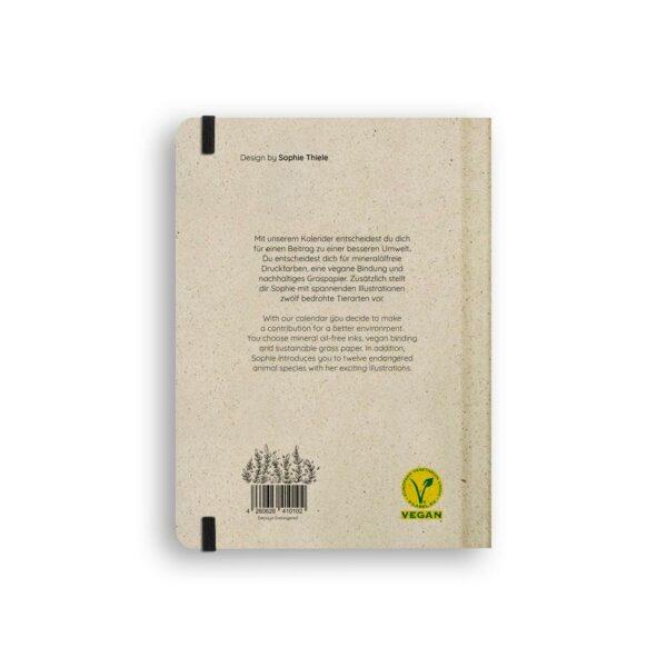 "A5 Kalender Samaya 2021 ""Endangered"" (DE/EN) - Graspapier 2"