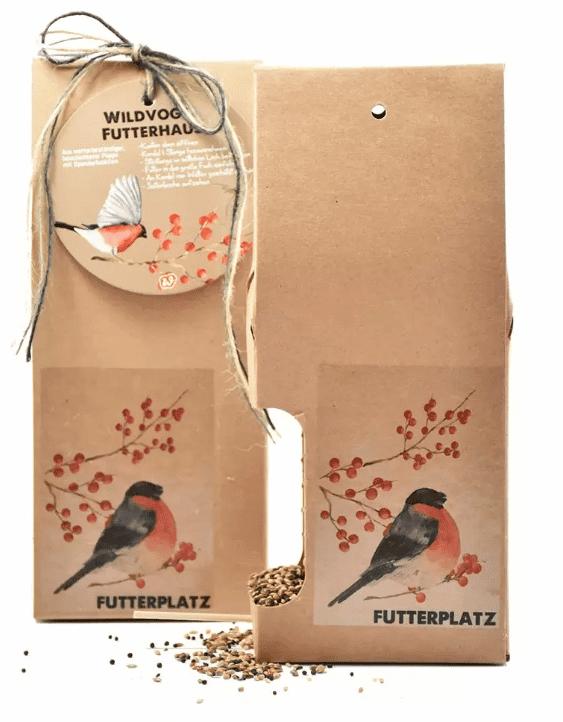 e-typisch - Vogelfutterhaus aus ökologischer Pappe