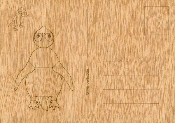 Pinguin - Holzpostkarte zum Basteln 2