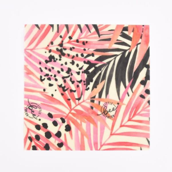 Bio-Bienenwachstuch Jungle Pink - Set S/M/L 2