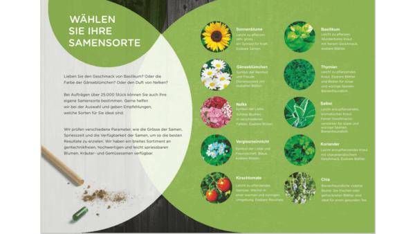 Farbstift mit Samenspitze- deutsche Samensorte 4