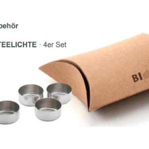 Edelstahl Cups TEELICHTE · 4er Set