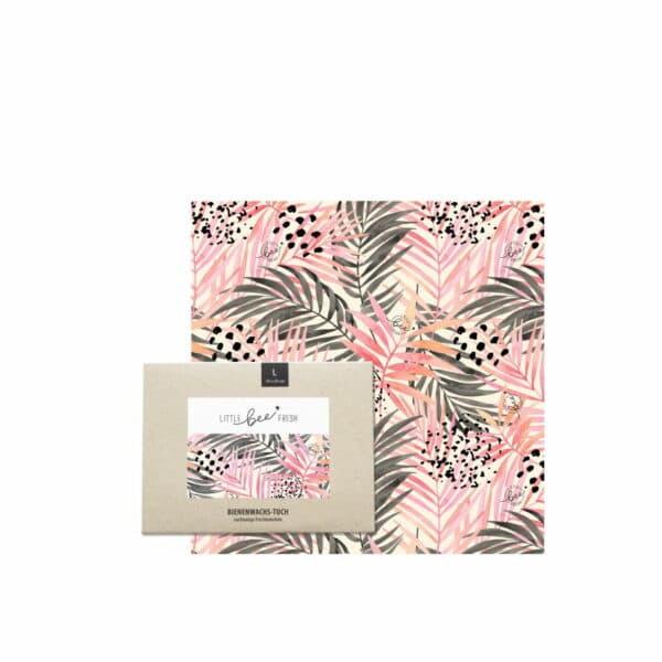 Bio-Bienenwachstuch Jungle Pink - Set S/M/L 1