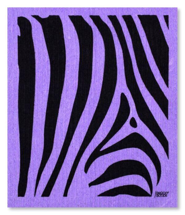 nachhaltiges Schwammtuch - Zebra Purple