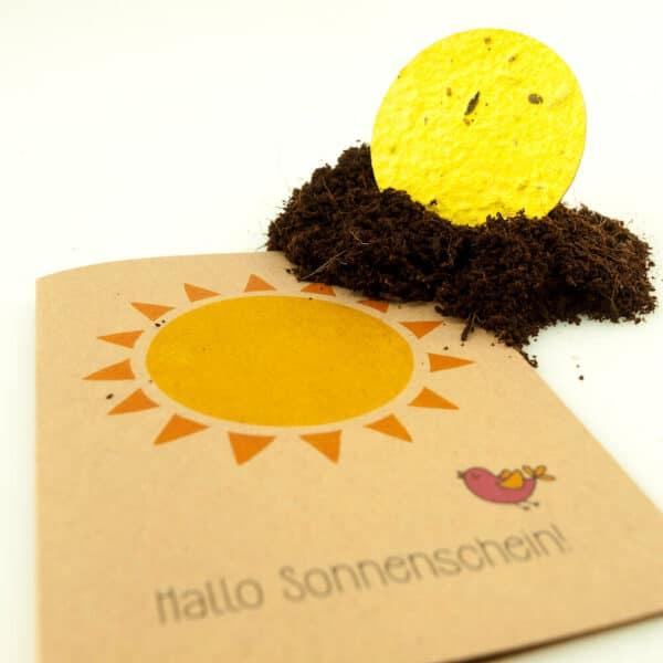 Nachhaltige Grußkarte Sonnenschein-e-typisch