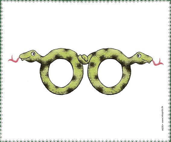 Brillenputztuch Brillenschlange