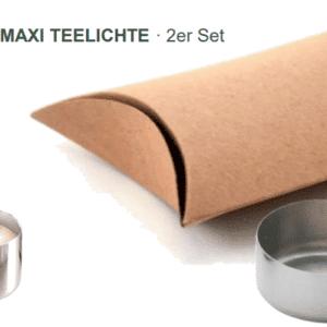 Edelstahl-Cup für Maxiteelicht - e-typpisch