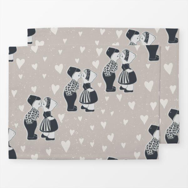 Tischset, 2 Stück im Set, 35x45cm, Design Love Birds 1