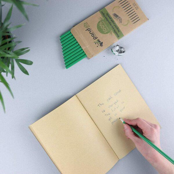 Bleistifte aus recyceltem Zeitungspapier-e-typisch