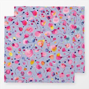 leinenservietten im 2erset-pusteblume flying seedpink