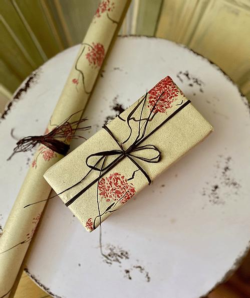 Geschenkpapierbogen aus Gras - Design Kirschblüten 100x70cm 4