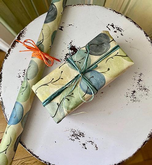 Geschenkpapierbogen aus Gras - Design Wasserkugeln 100x70cm 1