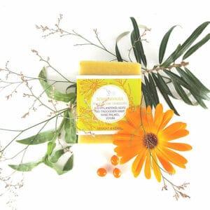 veganeür Bioseife für trockene Haut mit Sanddorn und Ringelblume