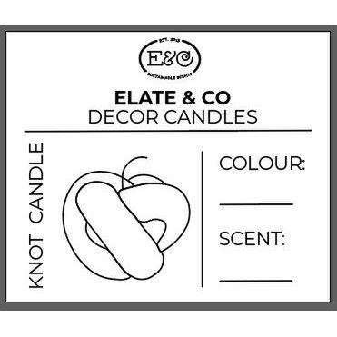 Die Elate & Co Knot Candle eignet sich perfekt für jedes Interieur.