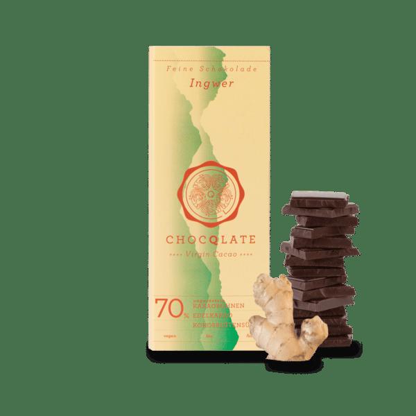 vegane Schokolade Ingwer